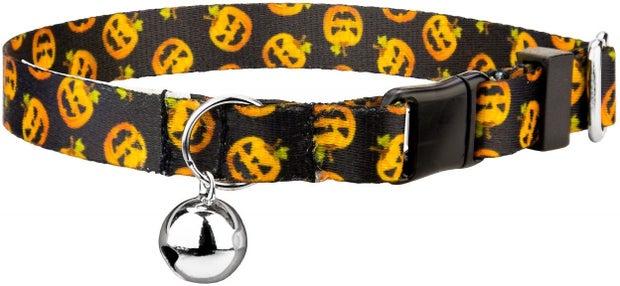 halloween pumpkin cat collar