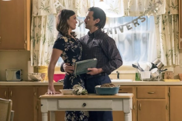 Jack and Rebecca Pearson from This Is Us in a kitchen