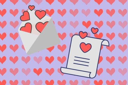 letters and hearts