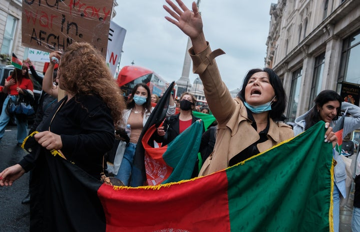 people protest against Afghanistan war in London