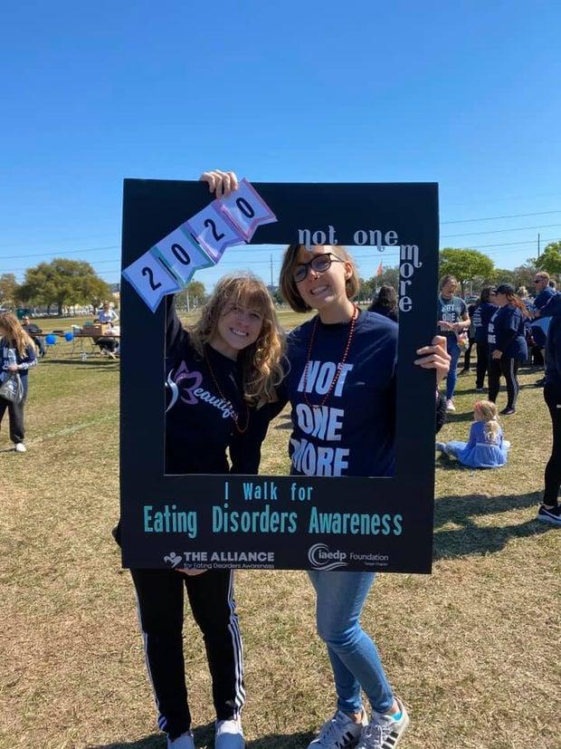 Girls at Eating Disorder Awareness Walk