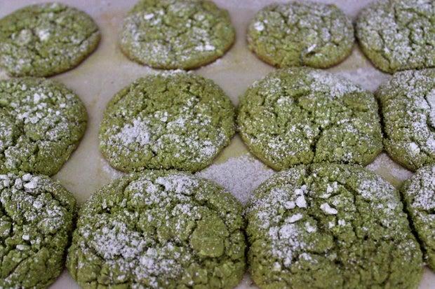 Photo of matcha cookies