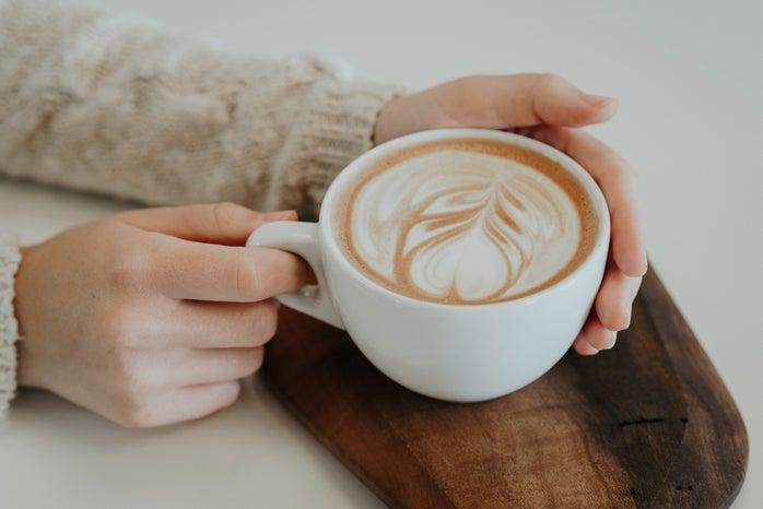 Latte in mug