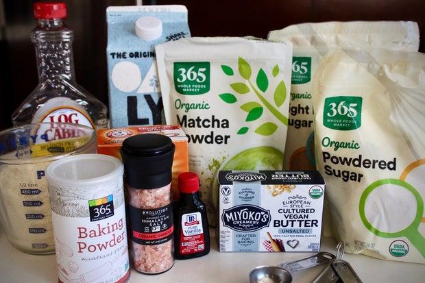 Photo of matcha ingredients
