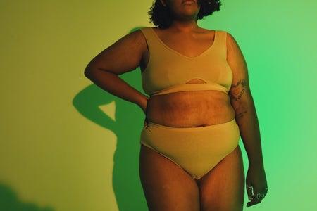 woman, underwear, body, body positivity