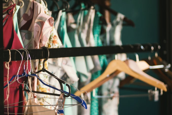 Clothes Hanger Hanged on Clothes Rack