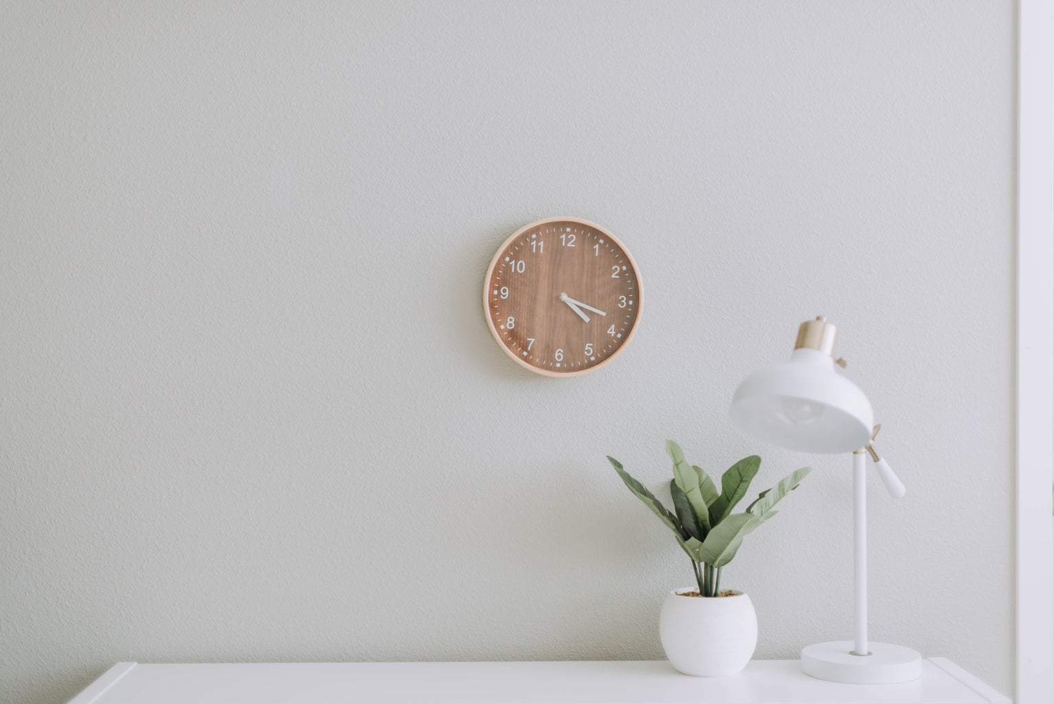 flower and clock