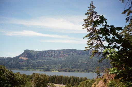 on the road to Multnomah Falls - washington from across the river