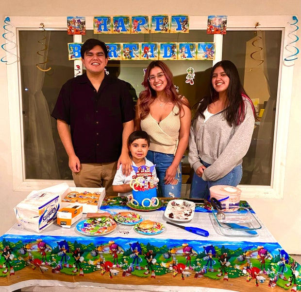 Family at children's party