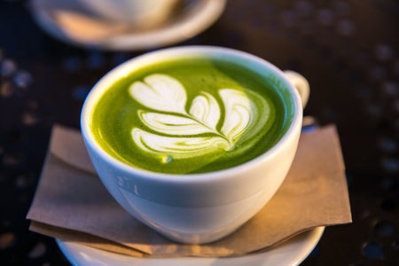 decorative matcha latte