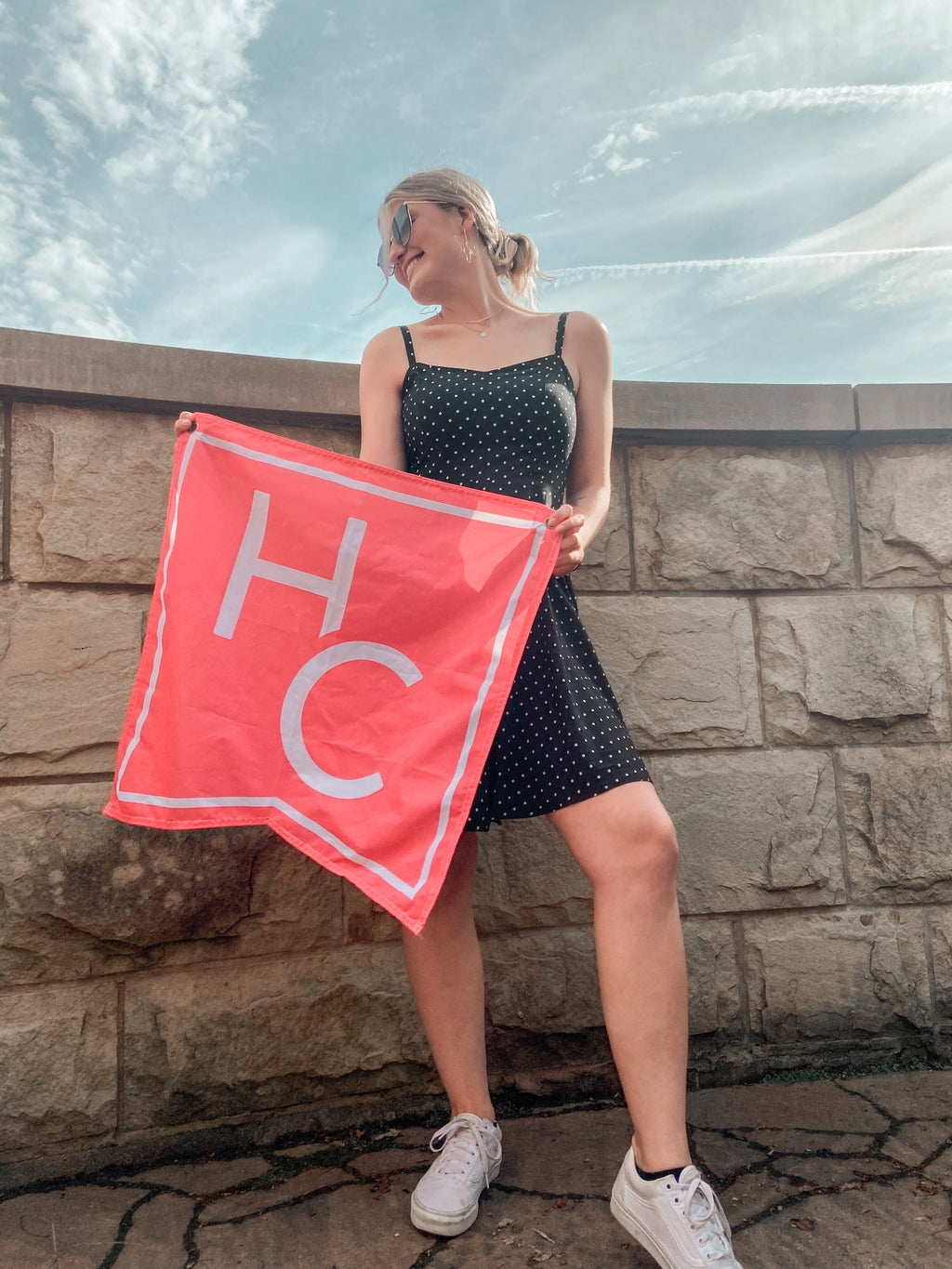 Me standing with the HC flag