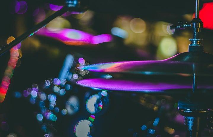 drum set with LED lights