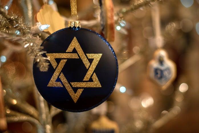 gold star of david ornament for Hanukkah tree