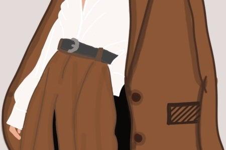 A man wearing coat
