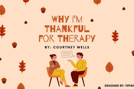 "Cover photo for article titled ""Why I'm Thankful for Therapy"""