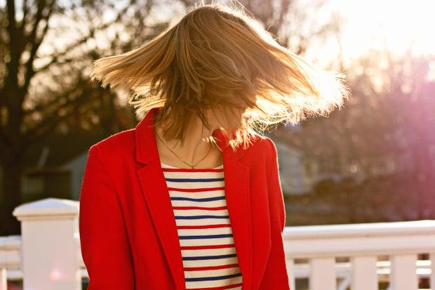 girl hair blazer professional