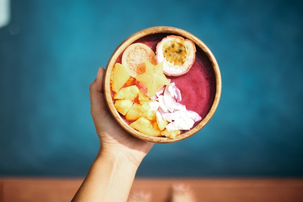 hawaii acai bowl smoothie food yummy fruit colorful