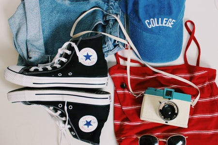 college p flat lay original