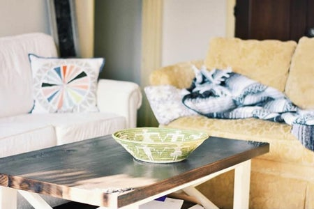 coffee table couch apartment living room sunny