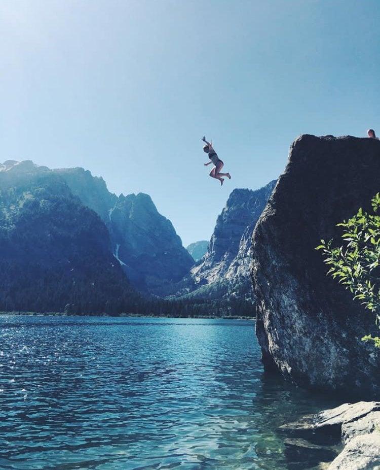 jump water nature cliff jump adventure travel