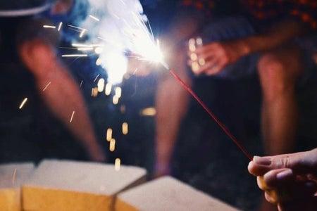 summer sparklers fireworks bonfire
