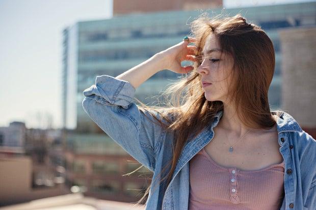 inspired city scape girl hair flip 2