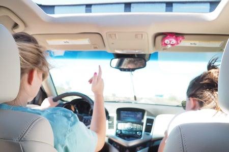 friends road trip california fall break windows down music