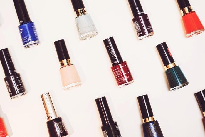 nail polish flatlay