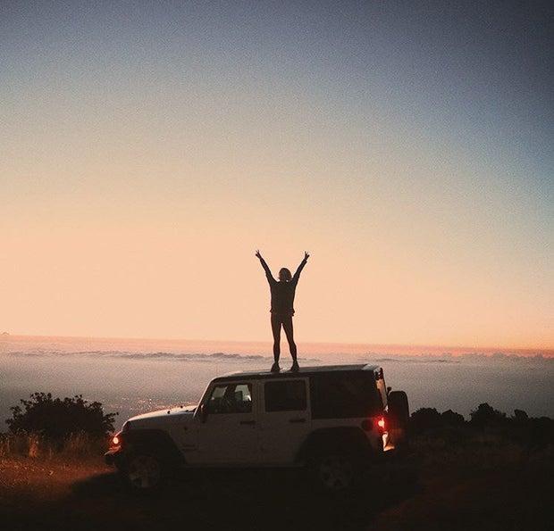 travel adventure sunset jeep road trip