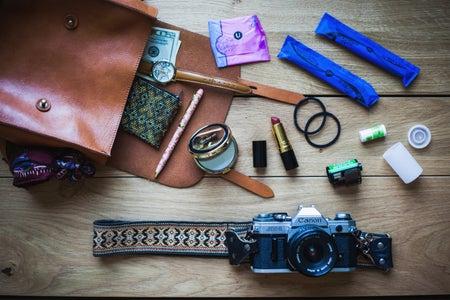 purse flatlay