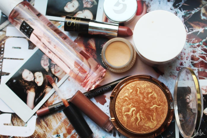 Messy Makeup Table Flatlay