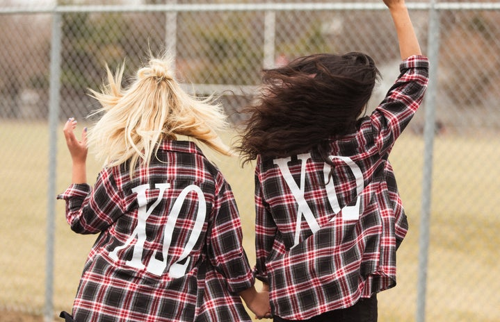 Fun College Sorority Girls With Flannels