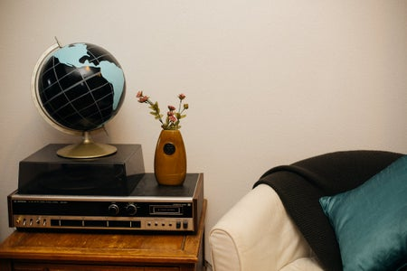 Living Room With Globe