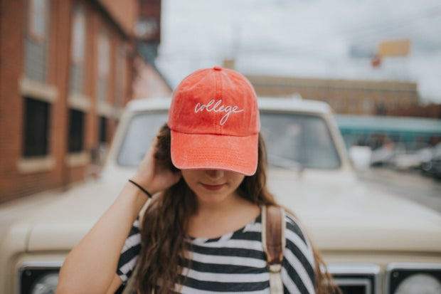 Coral College Hat 3