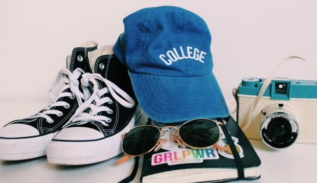 Anna Schultz-College Hat And Stickers