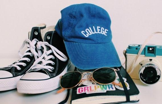 Anna Schultz-College Hat And Stickers