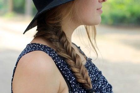 Girl Braid Hat Profile Close Up
