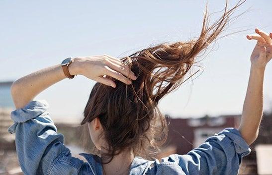 Kristen Bryant-Brandy Melville Inspired Cityscape Girl Hair Flip Cropped