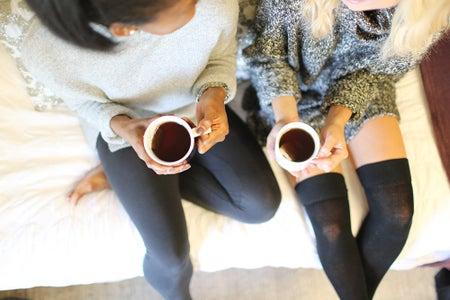 Cozy Two Friends Girls Tea Sweaters Warm