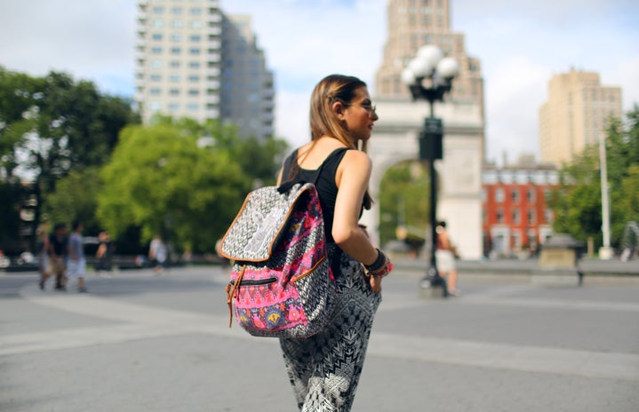 The Lalabackpack Girl Walking