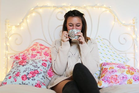 The Lalasipping Coffee In Bed