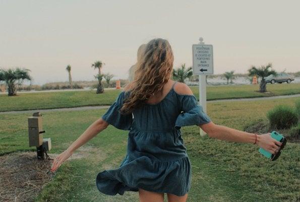 Anna Schultz-Running To Beach Carefree Inspirational