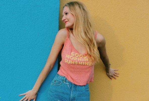 Anna Schultz-Good Morning Sunshine Denim Shirt Summer Fun