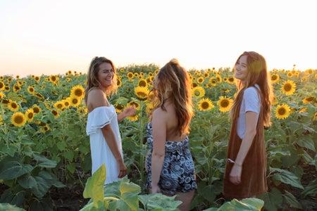 Maria Scheller-Laughing Friends Silly Fun Sunflower Summer Dress Happy