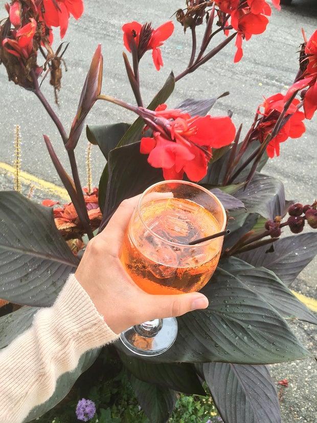 Spritz Flowers Cocktail