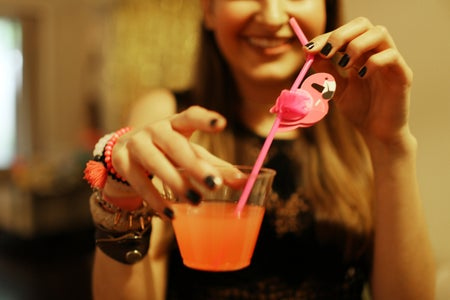 The Lalacocktail With Flamingo Straw