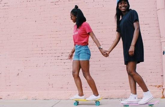 Anna Schultz-Friends Holding Hands Skateboards