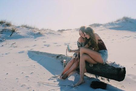 Anna Schultz-Girls Taking Selfie On Beach
