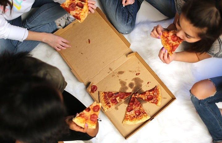 Riends Pizza College Party Food