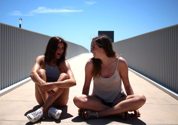 Kellyn Simpkin-Two Girls Sitting